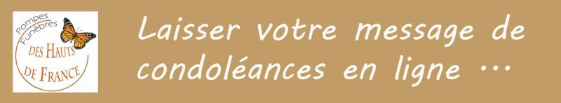Message de condoleances 2